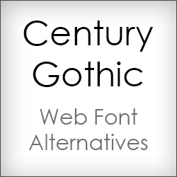 Century Gothic Web Font Alternatives