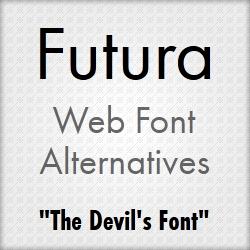 Futura Web Font Alternatives