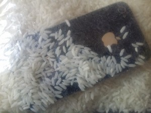iPhone in rice 1